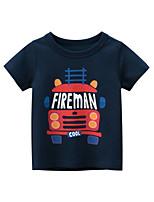 cheap -Kids Boys' T shirt Tee Graphic Print Short Sleeve Streetwear Navy Blue