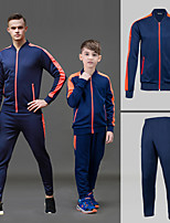 cheap -Men's Tennis Badminton Table Tennis Jacket Pants / Trousers Clothing Suit Long Sleeve Breathable Quick Dry Moisture Wicking Sports Outdoor Autumn / Fall Spring Winter Stripes Dark Navy