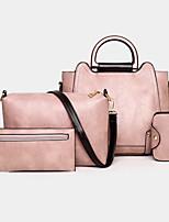 cheap -women 4pcs retro anti theft large capacity shoulder bag handbag