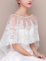 cheap -Half Sleeve Coats / Jackets / Shawls Chinlon Wedding / Party / Evening Shawl & Wrap / Women's Wrap With Flower