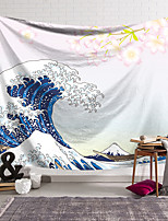 cheap -Kanagawa Wave Ukiyo-E Wall Tapestry Art Decor Blanket Curtain Hanging Home Bedroom Living Room Decoration Japanese Painting Style Sea Ocean Mountain Fuji Cherry Blossom
