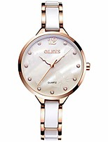cheap -fashion women's wrist watches luminous female watches for girls women analog quartz watches ceramic watchband black/white