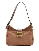 cheap -Women's Bags PU Leather Top Handle Bag Buttons Zipper Plain 2021 Daily Going out Black Khaki Brown Coffee