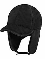 cheap -Women Furry Fleece Warm Winter Hats with Visor Windproof Earflap Skull Cap Winter Hat with Brim Earflap Fitted Hat Faux Fur Earmuffs Hat Baseball Cap Balaclava Beanie Hat Cycling Ski Cap for Girls