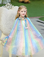 cheap -Sleeveless Shawls / Cute Terylene Party / Evening / Birthday Shawl & Wrap / Kids' Wraps With Glitter / Lace-up