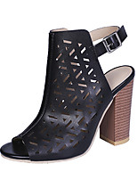 cheap -Women's Boots Chunky Heel Peep Toe Booties Ankle Boots Classic Daily PU Solid Colored Black Orange / Booties / Ankle Boots