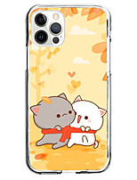 cheap -cute cat case for apple iphone iphone 12 11 se2020 unique design protective case cartoon black white cats couple shockproof back cover tpu case for iphone 12 pro max xr xs max iphone 8 plus 7