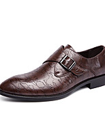 cheap -Men's Oxfords Business Casual Daily Office & Career Walking Shoes PU Breathable Massage Non-slipping Black Brown Spring Fall