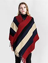 cheap -Sleeveless Ladies / Coats / Jackets Orlon Party / Party / Evening Shawl & Wrap / Women's Wrap With Tassel / Stripe