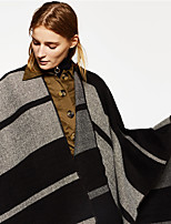 cheap -Sleeveless Coats / Jackets / Shawls Imitation Cashmere Party / Evening / Office / Career Shawl & Wrap / Women's Wrap With Stripe