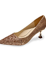 cheap -Women's Wedding Shoes Stiletto Heel Pointed Toe Sweet Daily Walking Shoes PU Solid Colored Burgundy Champagne Silver