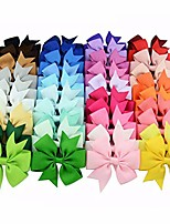 cheap -Boutique Baby Girls Alligator Clips Grosgrain Ribbon Pinwheel Hair Bows For Toddler 40 Colors (0-10t, 40 colors)