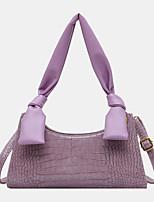 cheap -women solid crocodile pattern shoulder bag handbag