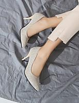 cheap -Women's Wedding Shoes Stiletto Heel Pointed Toe Wedding Daily PU Synthetics White Black Silver