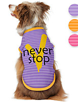 cheap -Dog Shirt / T-Shirt Print Letter & Number Adorable Cute Casual / Daily Dog Clothes Puppy Clothes Dog Outfits Breathable Purple Yellow Pink Costume for Girl and Boy Dog Polyster S M L XL
