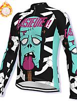 cheap -21Grams Men's Long Sleeve Cycling Jacket Winter Fleece Spandex Blue Bike Jacket Mountain Bike MTB Road Bike Cycling Fleece Lining Warm Sports Clothing Apparel / Stretchy / Athleisure