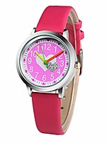 cheap -New Kids Students Gift Clock Brand Children's Watch Little Boys and Girls Pink Love Leather Watch (Rose)