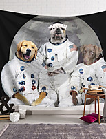cheap -Wall Tapestry Art Decor Blanket Curtain Hanging Home Bedroom Living Room Decoration Polyester Dog Landing On The Moon