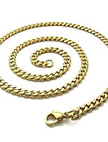 cheap -TOOGOO(R) Chain Necklace Men, Stainless Steel Chain Necklace, Gold - Width 6 mm - Length 40 cm
