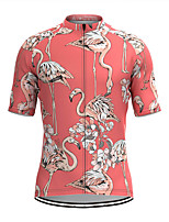 cheap -Men's Short Sleeve Cycling Jersey Pink Bike Top Mountain Bike MTB Road Bike Cycling Breathable Sports Clothing Apparel / Stretchy / Athletic