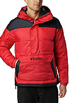 cheap -Men's Lodge Pullover Jacket, Mountain Red, Black, Small
