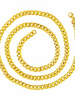 cheap -Hip Hop Rapper Gold Chain Accessory Cuban Faux Gold Costume Jewelry Rope Chain Necklace (D)
