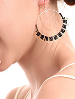 cheap -Women's Hoop Earrings Geometrical Happy Stylish Simple Earrings Jewelry Black / Red / Pink For Daily Prom