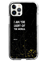 cheap -i am the light of the world phrase fashion case for apple iphone 12 iphone 11 iphone 12 pro max unique design protective case shockproof back cover tpu celebrity hot style
