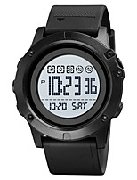 cheap -SKMEI Men's Digital Watch Digital Stylish Calendar / date / day Chronograph Alarm Clock Digital Black Black / White / One Year / Silicone / Dual Time Zones / Stopwatch