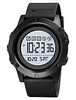 cheap -SKMEI Men's Digital Watch Digital Stylish Calendar / date / day Digital Black Black / White / One Year / Silicone