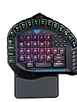 cheap -AULA 1 Wireless 5GHz / 5.8GHz Gaming Keyboard Gaming Monochromatic Backlit 60 pcs Keys