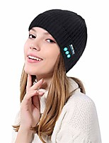 cheap -FRCOLT Unisex Bluetooth Wireless Headset Music Beanie Knit Hat Speakers Thermal Hat (One Size, Black)