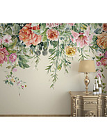 cheap -Flower Wallpaper Self-Adhesive Removable Peel and Stick Wallpaper Decorative Wall Covering for Wall Surface Cover Easy to Apply