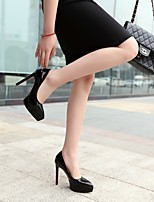 cheap -Women's Wedding Shoes Stiletto Heel Pointed Toe Wedding Daily PU Synthetics Black Pink