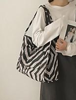 cheap -Women's Bags PU Leather Tote Zebra Print 2021 Daily Date Black Grey Black / White