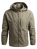 cheap -Men's Hiking Jacket Hiking Windbreaker Outdoor Windproof Quick Dry Lightweight Breathable Outerwear Coat Top Fishing Climbing Camping / Hiking / Caving Gray khaki Black Navy Blue Army Green