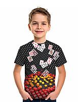 cheap -Kids Boys' Active Graphic 3D Print Short Sleeve Tee Gray