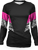 cheap -Women's Long Sleeve Downhill Jersey Winter Black Zebra Bike Top Mountain Bike MTB Road Bike Cycling Breathable Quick Dry Sports Clothing Apparel / Stretchy / Athleisure