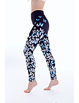 cheap -Women's Stylish Casual / Sporty Breathable Comfort Sports Gym Yoga Leggings Pants Graphic Butterfly Ankle-Length Sporty Print Black