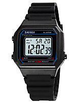 cheap -SKMEI Boys' Sport Watch Digital Sporty Stylish Calendar / date / day Digital White Black Blue / One Year / Silicone