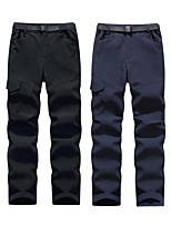 cheap -Men's Hiking Pants Trousers Solid Color Winter Outdoor Standard Fit Fleece Lining Breathable Warm Stretchy Bottoms Black Grey Dark Navy Fishing Climbing Camping / Hiking / Caving S M L XL XXL