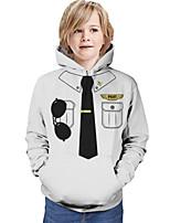 cheap -Kids Boys' Hoodie & Sweatshirt Graphic 3D Print Long Sleeve Active White