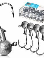 cheap -Jig Hooks Set Kit with Fishing Tackle Box Lead Round Ball Head Jigs Fishing Hooks with Barb (8G-20PCS)