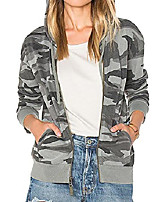 cheap -Women's Pattern Others Sporty All Seasons Regular Daily Cotton Coat Tops Gray