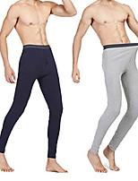 cheap -2PCS Men's Classic Thermal Underwear Pants Light Base Layer Long Johns Bottoms Winter Trousers for Boyfriend