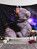 cheap -Wall Tapestry Art Decor Blanket Curtain Hanging Home Bedroom Living Room Decoration Polyester Cat Starry Sky