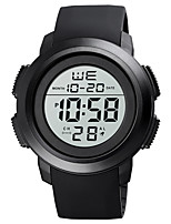 cheap -SKMEI Men's Sport Watch Digital Stylish Calendar / date / day Digital Black Black / White / One Year / Silicone