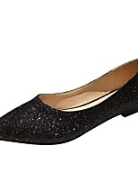 cheap -women's low flat sparkly exterior slip on comfortable party shoes, thesis lt olv nb 11