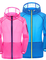 cheap -Men's Hoodie Jacket Hiking Skin Jacket Skin Coat Long Sleeve Sweatshirt Top Outdoor Lightweight Breathable Quick Dry Sweat-wicking Autumn / Fall Spring Solid Color Lake blue Sapphire orange Hunting