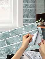cheap -imitation retro ceramic tile kitchen stickers waterproof and oily fume-proof rain green flake self-adhesive decorative wall stickers 15cm*30cm*6pcs
